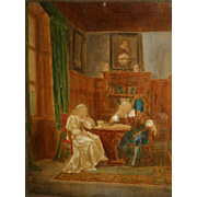 Late 19th c. Hanfstaengl Carl Schweninger Tinted & Gouache Print