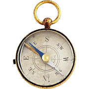 1930s French Brass Compass Fob