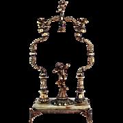 REDUCED Vintage French Pocket Watch Stand / Cherubs Cherub Angel Putto Cupid Pocket Watch ...
