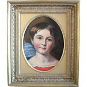 SALE 19th Century Irish School Portrait of a Child, Oil Painting.