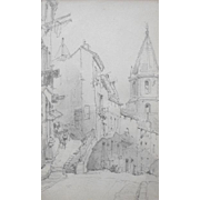 SALE Eugène GALIEN-LALOUE (1854-1941) Pencil Drawing Northern France.
