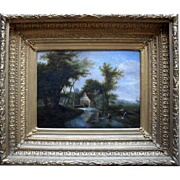 English School Landscape Oil Painting c1820