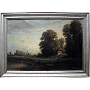 V Michel 1866 Barbizon School Landscape Oil Painting
