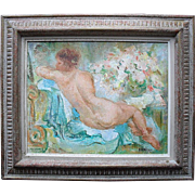 "Marcel ANSELME (1925-1982) ""Christine"" French Impressionist Nude Oil Painting"