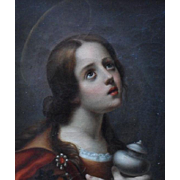 "After Carlo Dolci ""Magdalen"" 19thc Copy Oil Painting"
