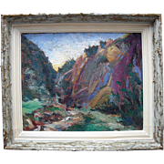 Louis Effroy (fl1926 onwards) French Fauvist Landscape Oil Painting.