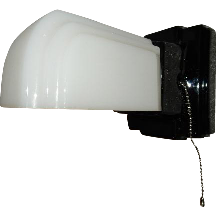 Vintage Bathroom Black Streamlined Porcelain Wall Light
