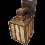 c.1904 Arts & Crafts Mission Cast Bronze Porch Light Sconce