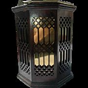 Georgian Plate Bucket: Fretwork Sides, Brass Liner, Octagonal Shape