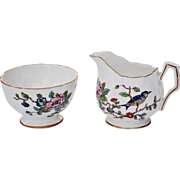REDUCED Vintage Aynsley 'Pembroke' Mini Open Sugar & Creamer Set