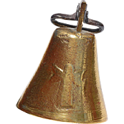 REDUCED Central European-Czech Brass Goat Bell with Angel Impressions