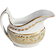 REDUCED Early 19th Century Spode Porcelain Gravy Boat with Gilded Decoration