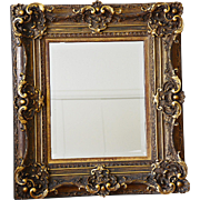 REDUCED Gilded Rococo Revival Frame with Newer Beveled Mirror