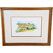 """Toscana Campagna"" An Original Watercolor by Allessandro Bulli"