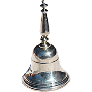 English Sterling Silver Table Bell Marked for Lionel Alfred Crichton, London, 1930
