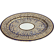"""REDUCED English George III China Platter Marked Duesbury Derby """"Seaweed"""" Pattern"""