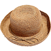 REDUCED Fashionable Natural Fiber/Straw Hat with Rolled Edge from China