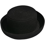 REDUCED Stylish Black Wool Hat with Rolled Edge from China