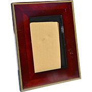 REDUCED Rich, Mahogany-Colored Picture Frame with 'Arrow' Inlay Banding