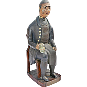 "REDUCED Folk Art ""Toper' Figure by French War Prisoner in Scottlish Prison Post Waterloo"