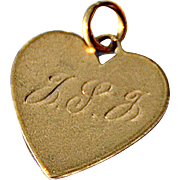 REDUCED Vintage 1958 14K Gold 'Heart' Charm from a Girl's Charm Bracelet