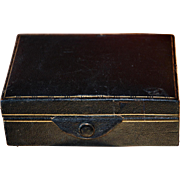 Vintage Leather Gentleman's Accessory Box for Cuff Links, Studs, Tie Clips, etc.