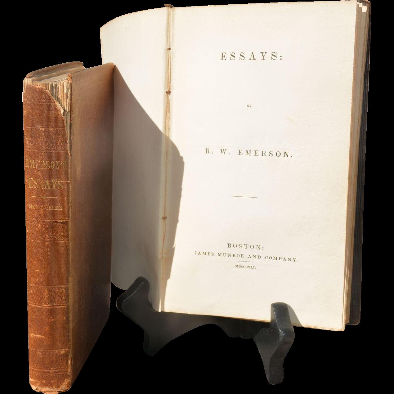 emerson essays first edition