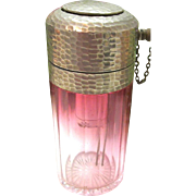SALE Art Glass - BACCARAT / MOSER Crystal CRANBERRY Perfume Scent Bottle Atomizer with Piston