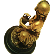 SALE Orientalist Art - Wonderful Nude Water Carrier Holding Amphora - Circa 1900 Bronze