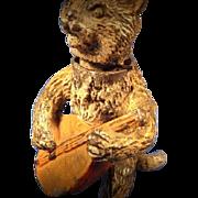 SALE Orientalist Art - Georg Heyde Hollowcast Metal Figurine - Superb NODDING Bobblehead Felin