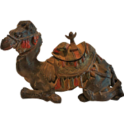 SALE Orientalist Art - Figural Polychrome Metal INKWELL - Unusual & Whimsical Camel