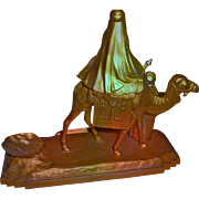 SALE Orientalist Art - Signed Gilt INKWELL created for the 1931 International Colonial ...