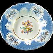 Large ceramic blue and white bowl, vintage, ornate design