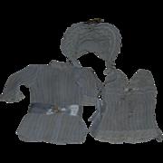 Tiny Dress, Bonnet, Petticoat for French, German Bebe