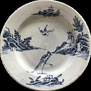 18th Century Delft Plate ca 1750