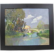 SOLD Georges Charles Robin b1873 Original French Impressionist Oil Painting