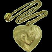 Heart Locket Necklace in 14K gold