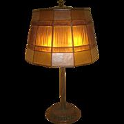 Vintage Tiffany Studios Linenfold Table Lamp
