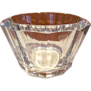 Vintage Orrefors CRYSTAL Sweden- Large Faceted Bowl/ Ice Bucket-Mint!