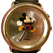 Rare Vintage Mickey Mouse Musical/ Automated Running Feet Mickey Watch-In Working Order!
