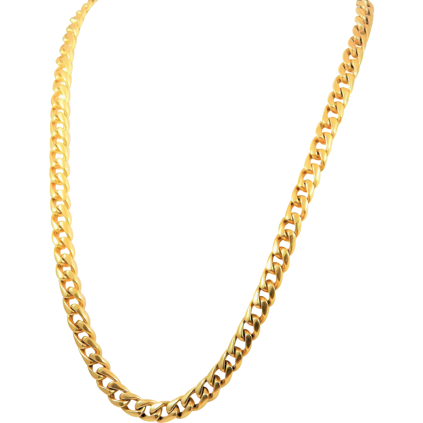 14 karat yellow gold 7mm 20 inch fancy curb link chain