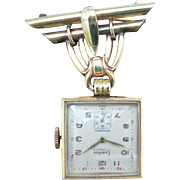 Landau Vintage Lapel Watch on a Watch Pin - Gold Filled