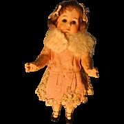 "10"" Bisque #8420 Gebruder Heubach Darling Pouty Girl"