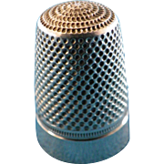 Antique French Sewing Thimble Sterling Silver 19th (1)