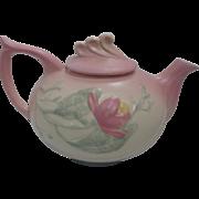 SALE Vintage Hull Pottery 3-Tone Floral Design Pink, Beige, and Blue Tea Pot