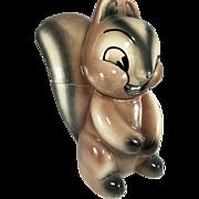 SALE Darling Vintage Squirrel Cookie Jar - 16 California