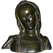 Bronze Bust of Young Maiden