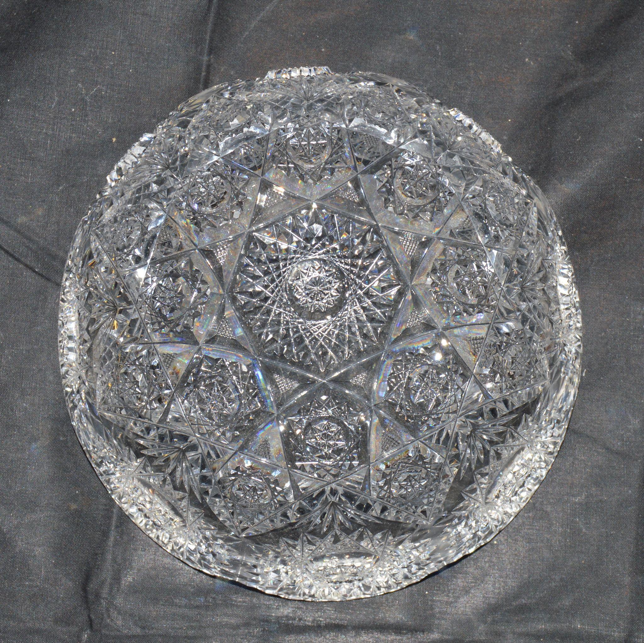 Hawkes Cut Glass Bowl Festoon Pattern American Brilliant
