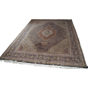 Hand Knotted Persian Tabriz Rug in the Herati/Mahi Pattern