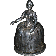 Silver GEORGIAN LADY Dinner BELL-EARLY DUTCH, Zutphen 1757 RARE